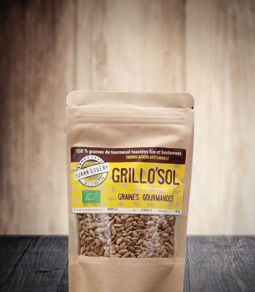 Grillo'Sol 100 g : Graines de tournesol torréfiées