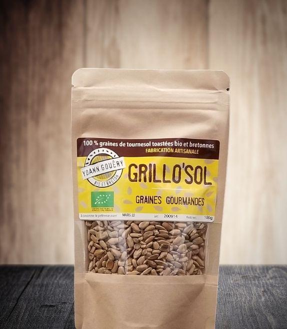 Grillo'Sol 400 g : Graines de tournesol torréfiées