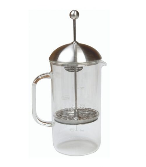 Cafetiere à piston, verre, 1L