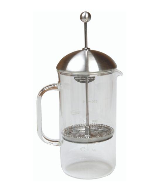 Cafetiere à piston, verre, 1L