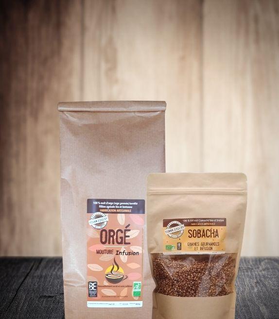 Pack infussions format classique : café d'orge et sobacha